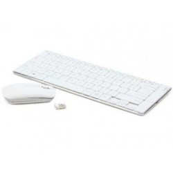 Tehsino Tastatura si Mouse Wireless 2.4 GHZ White